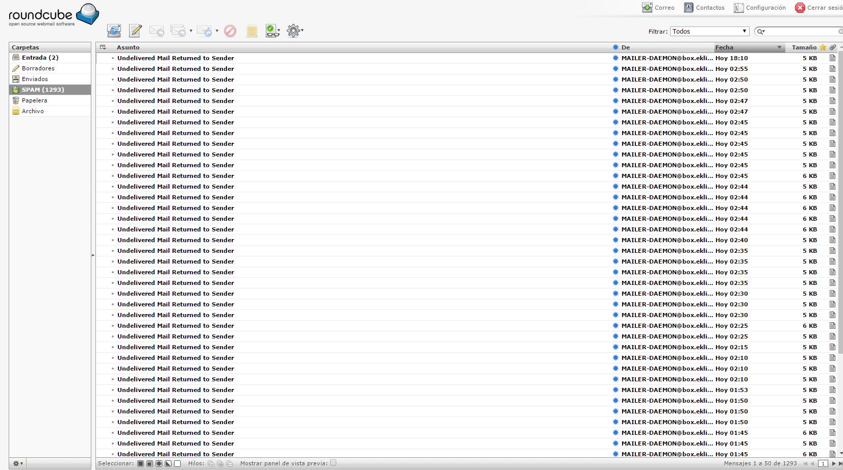 Undelivered Mail Returned to Sender - Maintenance - Mail-in